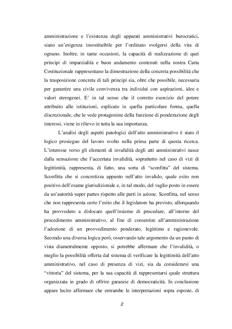 Anteprima della tesi: Discrezionalità amministrativa e tecnica. Vizi dell'atto amministrativo, Pagina 3