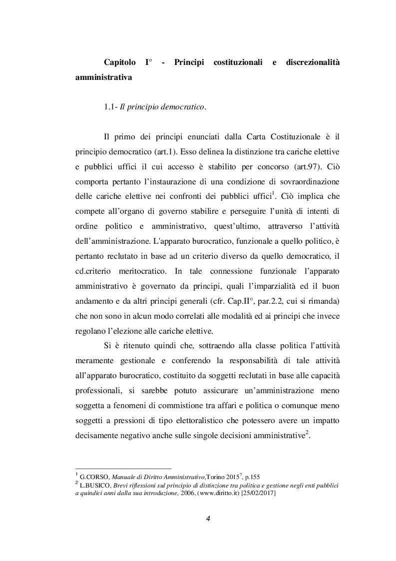 Anteprima della tesi: Discrezionalità amministrativa e tecnica. Vizi dell'atto amministrativo, Pagina 5