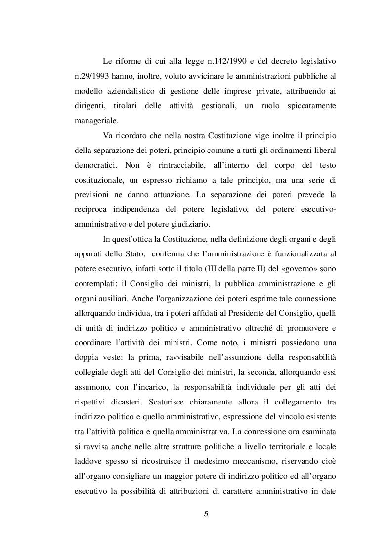 Anteprima della tesi: Discrezionalità amministrativa e tecnica. Vizi dell'atto amministrativo, Pagina 6