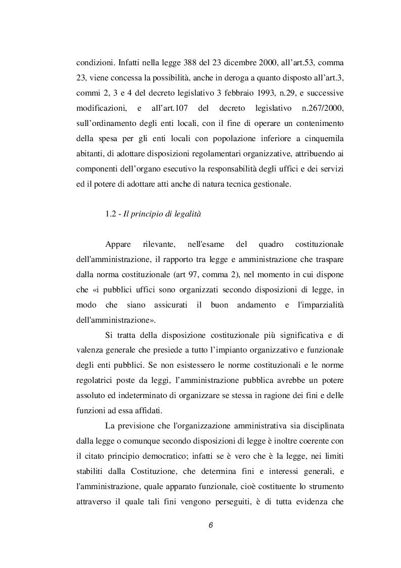 Anteprima della tesi: Discrezionalità amministrativa e tecnica. Vizi dell'atto amministrativo, Pagina 7