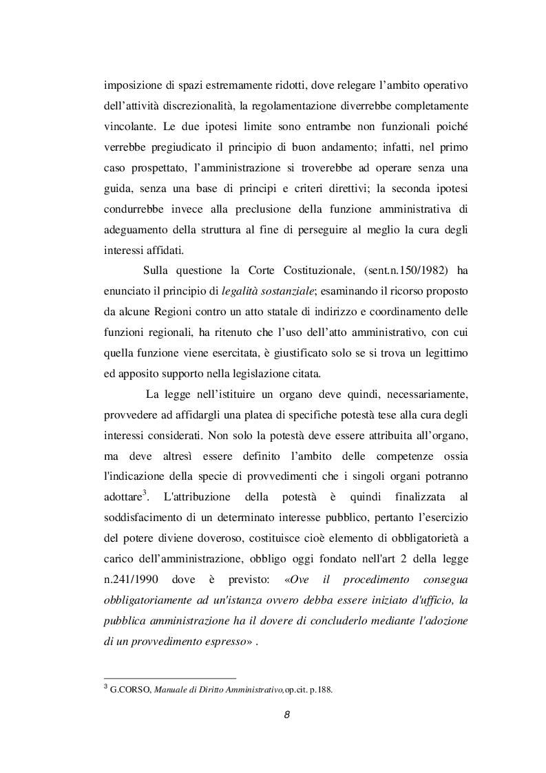 Anteprima della tesi: Discrezionalità amministrativa e tecnica. Vizi dell'atto amministrativo, Pagina 9