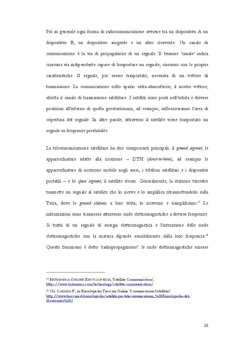 Estratto dalla tesi: Radiocommunication satellite. La gestione delle frequenze contro il pericolo delle interferenze nocive nella normativa internazionale, europea e italiana