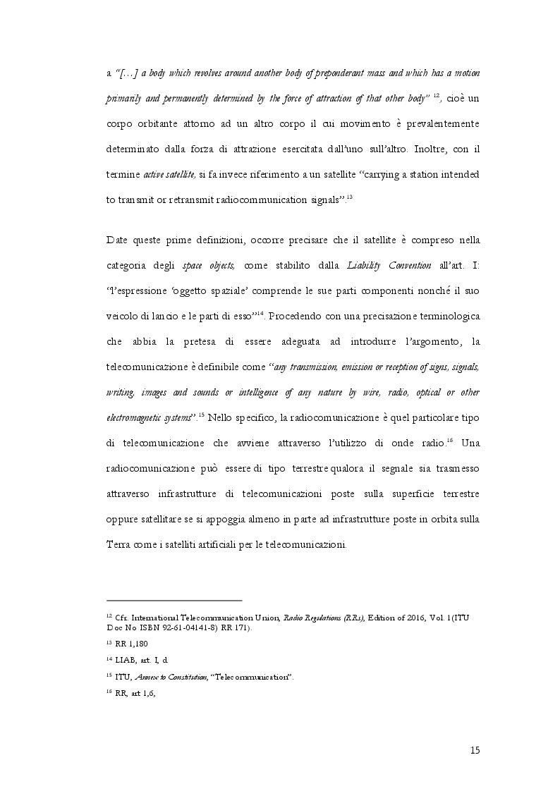 Anteprima della tesi: Radiocommunication satellite. La gestione delle frequenze contro il pericolo delle interferenze nocive nella normativa internazionale, europea e italiana, Pagina 6
