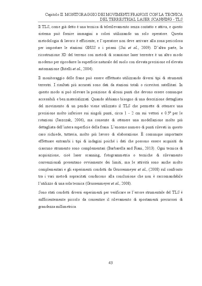 Anteprima della tesi: Analisi e monitoraggio di frane mediante misure laser scanner terrestre da lunga distanza, Pagina 5