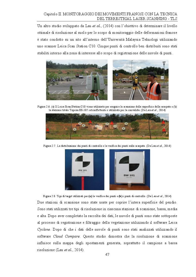 Anteprima della tesi: Analisi e monitoraggio di frane mediante misure laser scanner terrestre da lunga distanza, Pagina 9