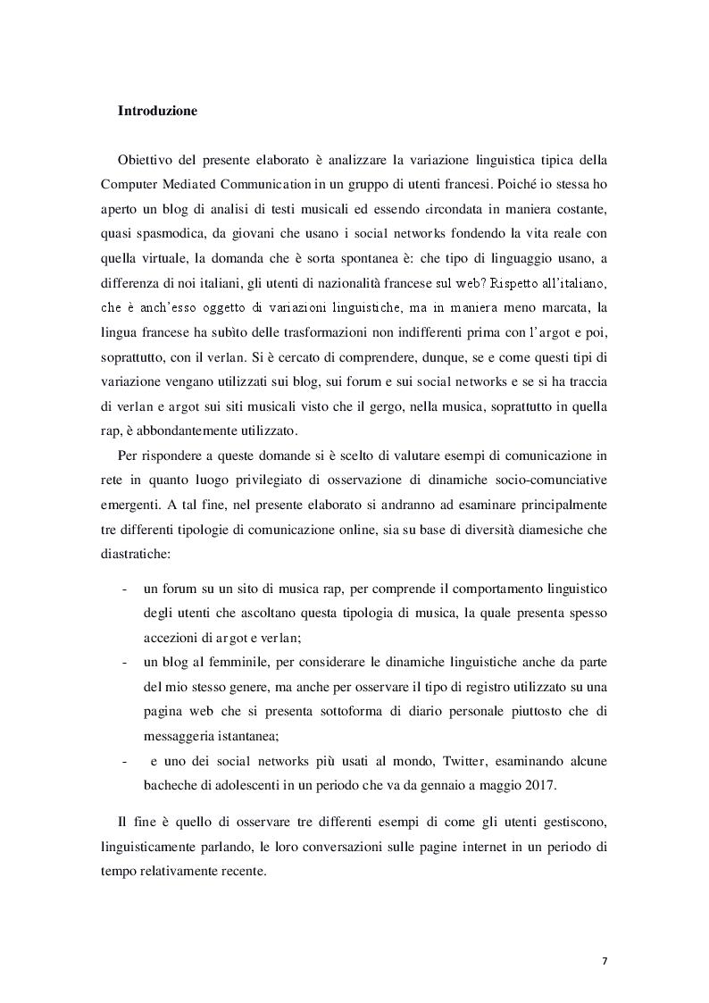 """Anteprima della tesi: """"Le céfran… c'est relou!"""" - Il francese nel web, Pagina 2"""