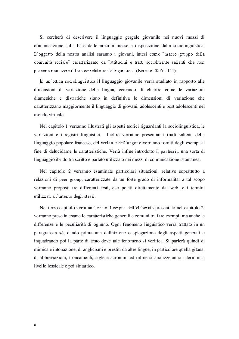 """Anteprima della tesi: """"Le céfran… c'est relou!"""" - Il francese nel web, Pagina 3"""