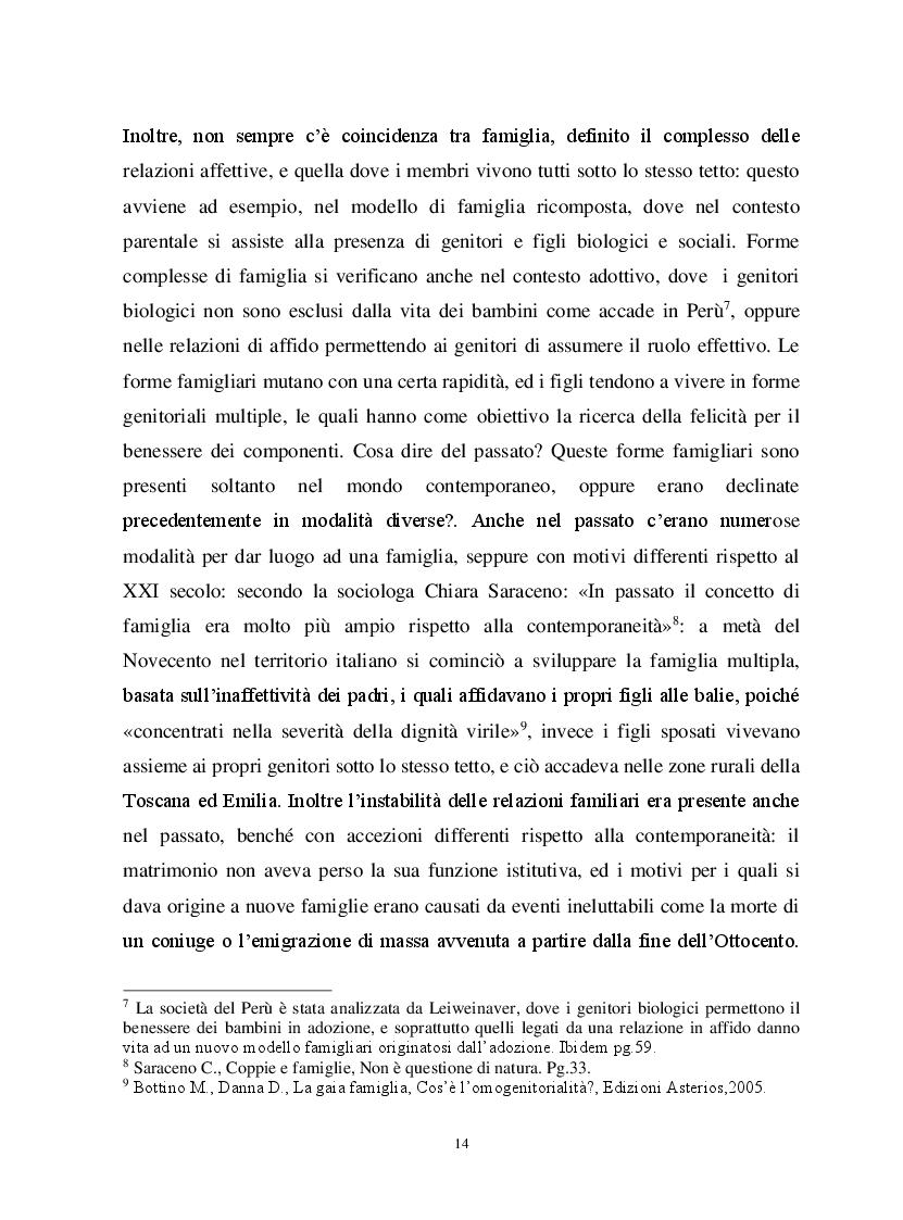 Anteprima della tesi: Io, tu ed i nostri figli. La famiglia omogenitoriale, Pagina 4