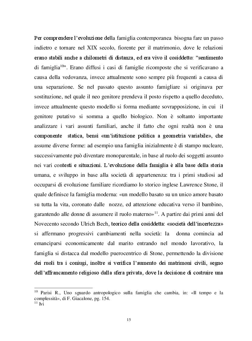 Anteprima della tesi: Io, tu ed i nostri figli. La famiglia omogenitoriale, Pagina 5