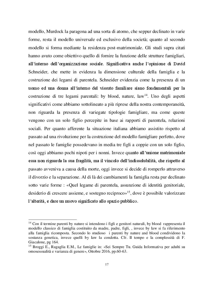 Anteprima della tesi: Io, tu ed i nostri figli. La famiglia omogenitoriale, Pagina 7
