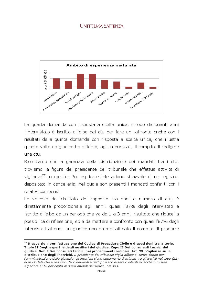 Anteprima della tesi: La CTU infermieristica nei procedimenti di risarcimento del danno da responsabilità sanitaria, Pagina 4