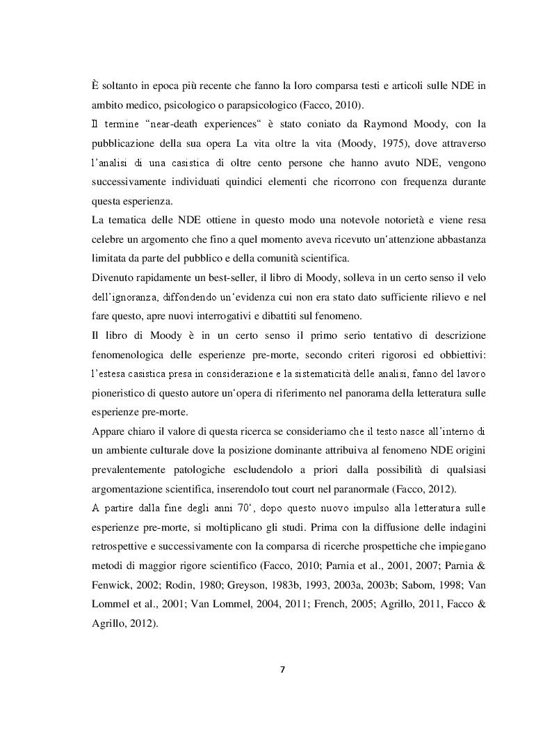 Anteprima della tesi: Il margine con la morte. Near-death experiences: prospettive a confronto, Pagina 8