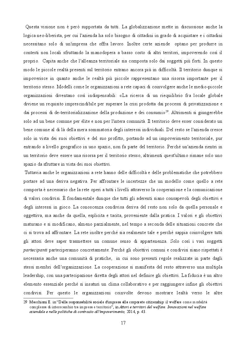 Estratto dalla tesi: Un esperimento di Governance territoriale sostenibile: il laboratorio sulla responsabilità sociale d'impresa di Piacenza