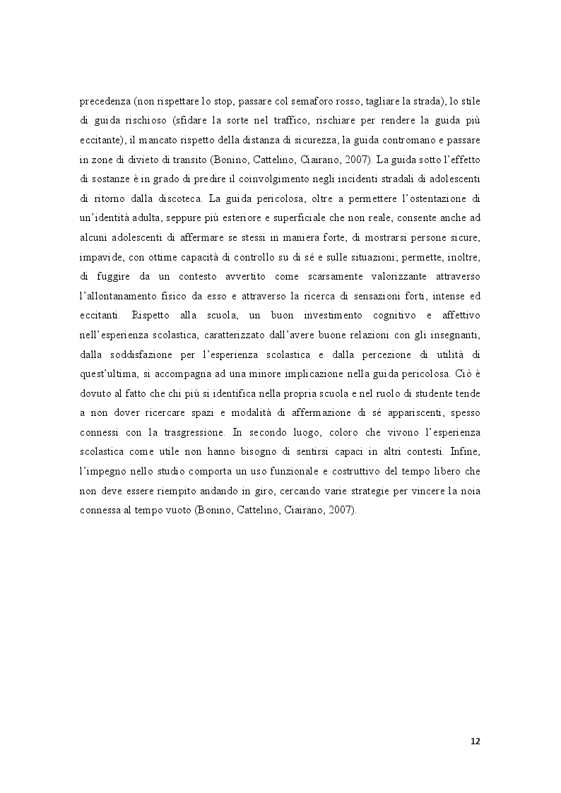 Estratto dalla tesi: Condotte antisociali e rendimento scolastico: uno studio empirico in una popolazione di preadolescenti