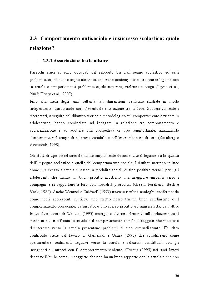 Anteprima della tesi: Condotte antisociali e rendimento scolastico: uno studio empirico in una popolazione di preadolescenti, Pagina 2