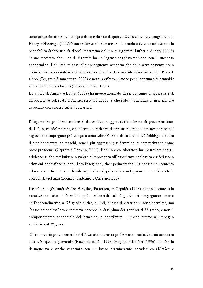 Anteprima della tesi: Condotte antisociali e rendimento scolastico: uno studio empirico in una popolazione di preadolescenti, Pagina 3