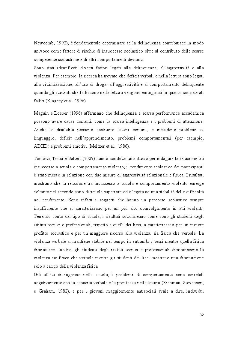 Anteprima della tesi: Condotte antisociali e rendimento scolastico: uno studio empirico in una popolazione di preadolescenti, Pagina 4