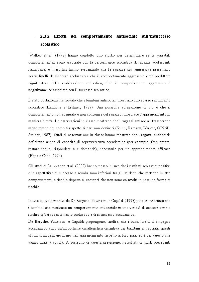 Anteprima della tesi: Condotte antisociali e rendimento scolastico: uno studio empirico in una popolazione di preadolescenti, Pagina 7