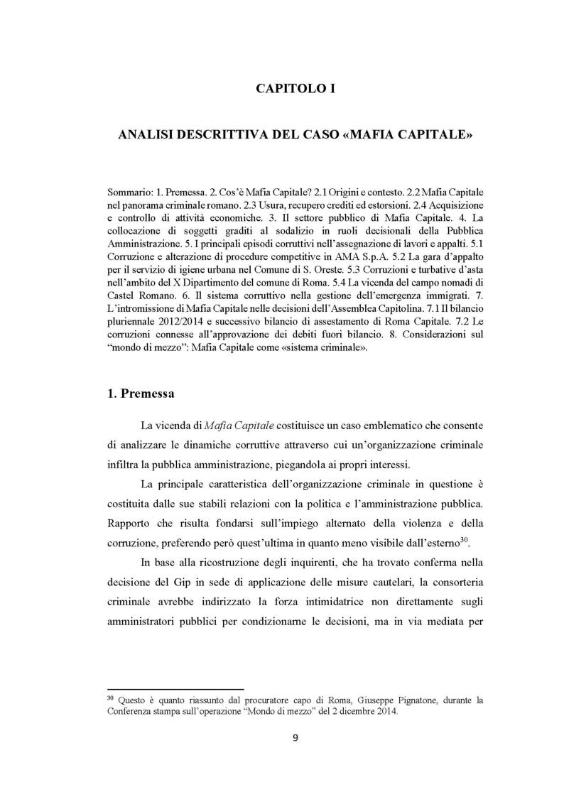 Anteprima della tesi: Evoluzione del fenomeno corruttivo e ruolo della criminalità organizzata: il caso Mafia Capitale, Pagina 10
