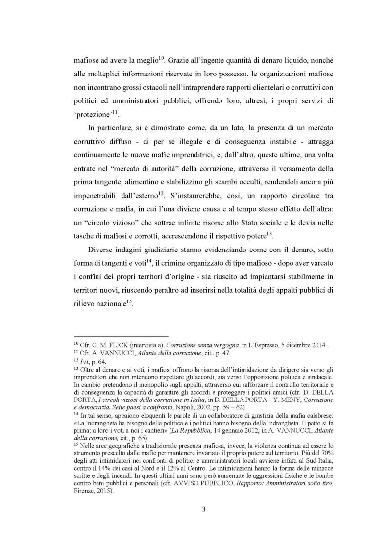 Anteprima della tesi: Evoluzione del fenomeno corruttivo e ruolo della criminalità organizzata: il caso Mafia Capitale, Pagina 4