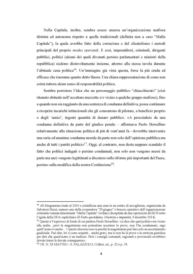Anteprima della tesi: Evoluzione del fenomeno corruttivo e ruolo della criminalità organizzata: il caso Mafia Capitale, Pagina 5