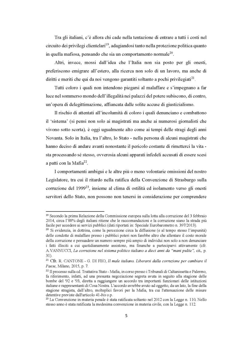 Anteprima della tesi: Evoluzione del fenomeno corruttivo e ruolo della criminalità organizzata: il caso Mafia Capitale, Pagina 6