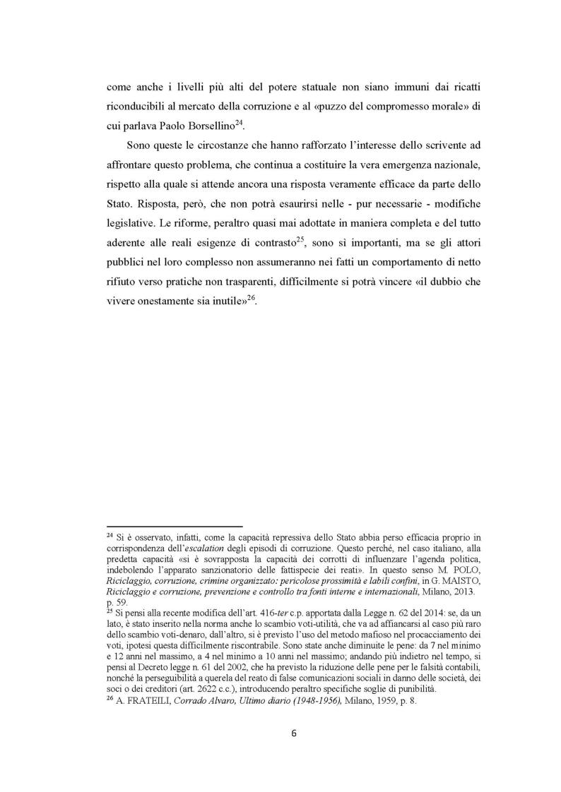 Anteprima della tesi: Evoluzione del fenomeno corruttivo e ruolo della criminalità organizzata: il caso Mafia Capitale, Pagina 7