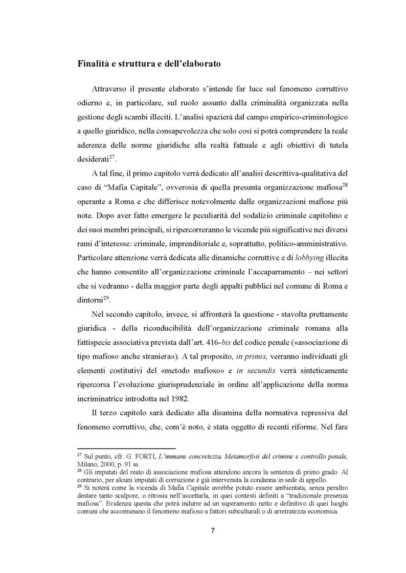 Anteprima della tesi: Evoluzione del fenomeno corruttivo e ruolo della criminalità organizzata: il caso Mafia Capitale, Pagina 8