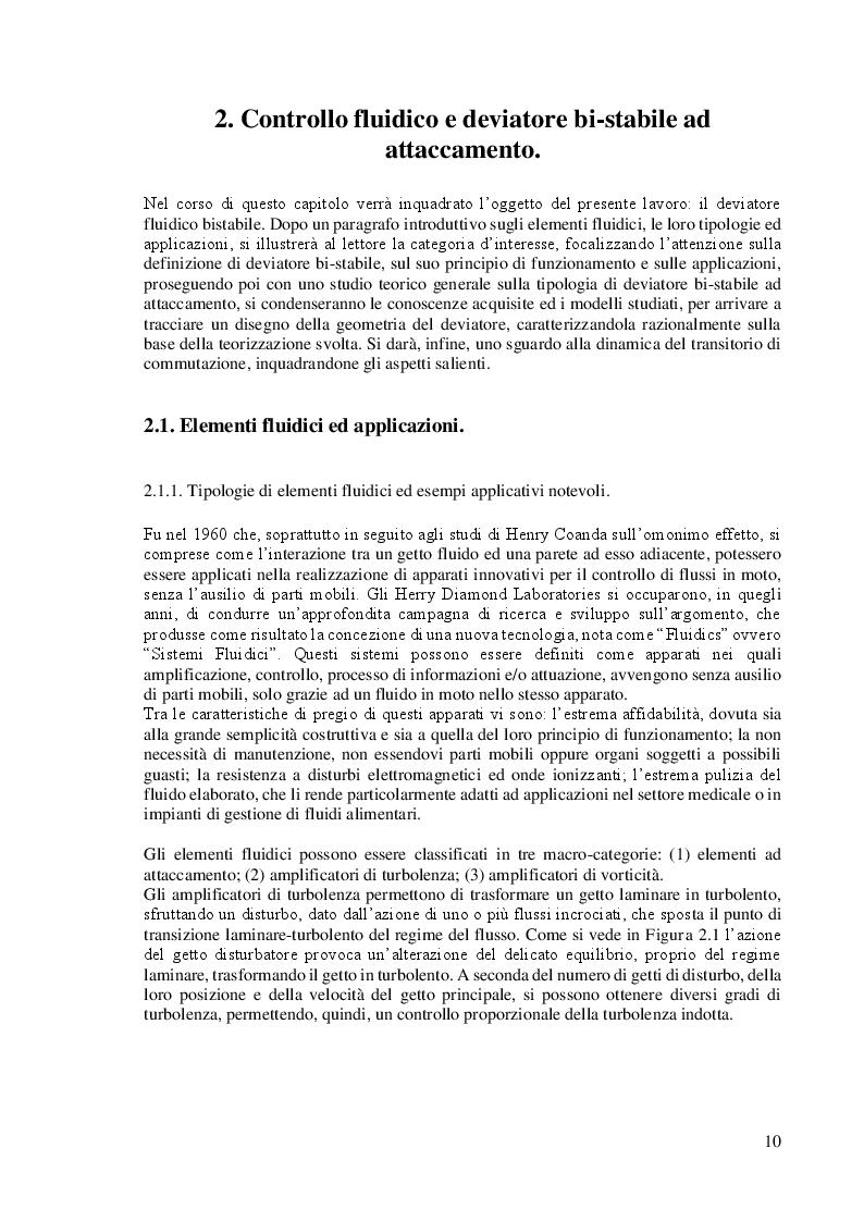 Anteprima della tesi: Studio e Caratterizzazione di una Valvola Deviatrice Innovativa ad effetto Coanda, Pagina 4