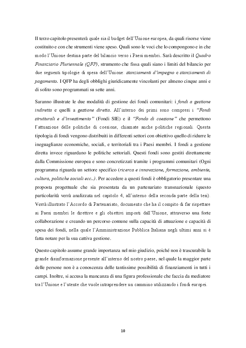 Anteprima della tesi: HORIZON 2020 – Il programma quadro per la ricerca e l'innovazione. La progettazione europea., Pagina 5