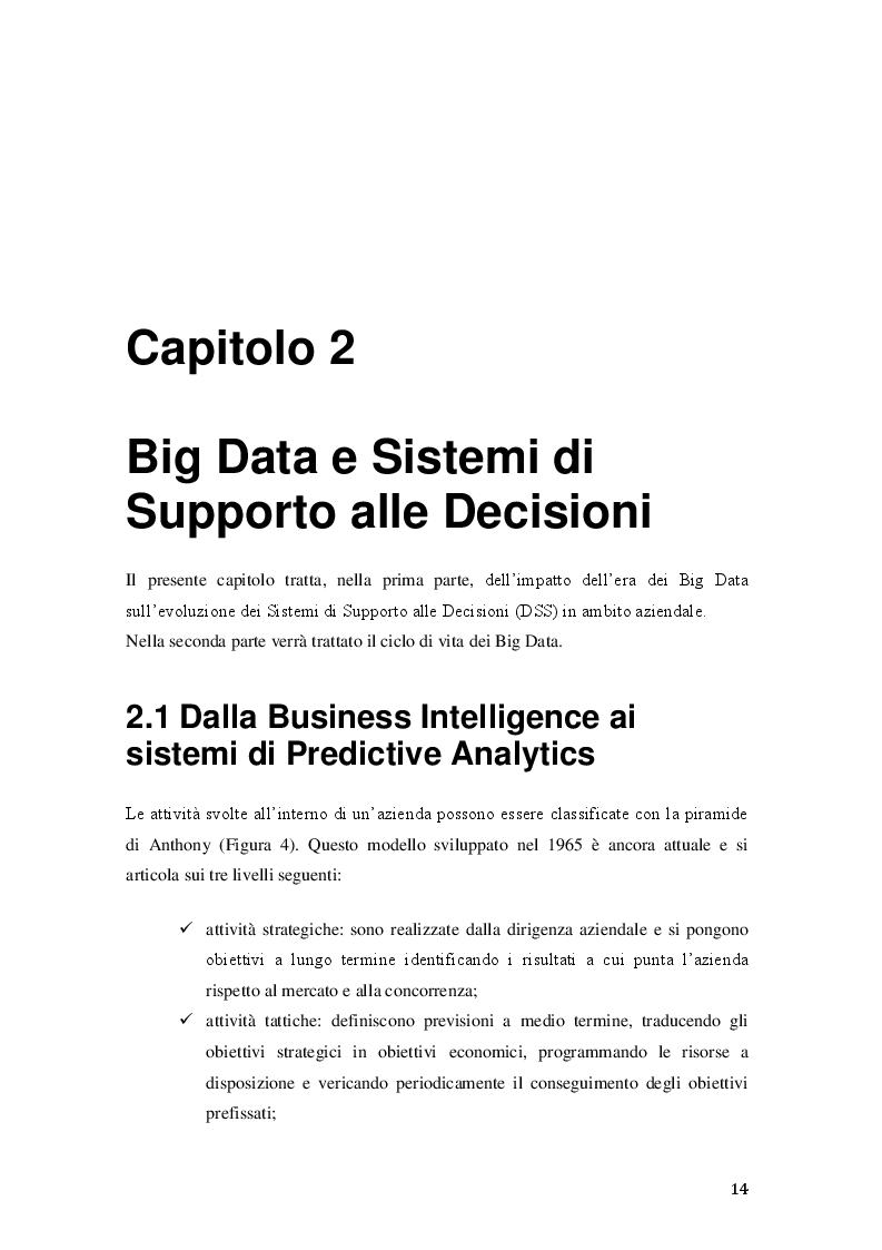 Anteprima della tesi: Big Data: dalla Business Intelligence alla Predictive Analytics, Pagina 2