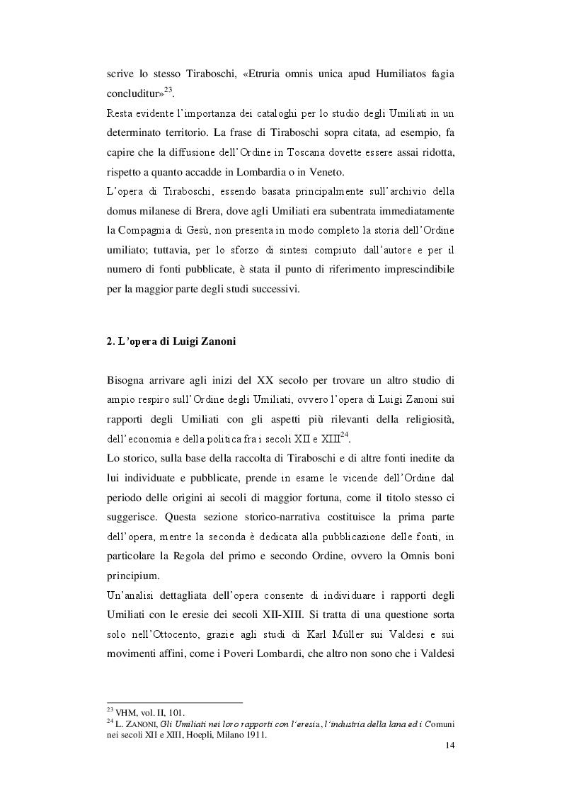 Anteprima della tesi: Gli Umiliati nell'area tosco-emiliana, Pagina 10