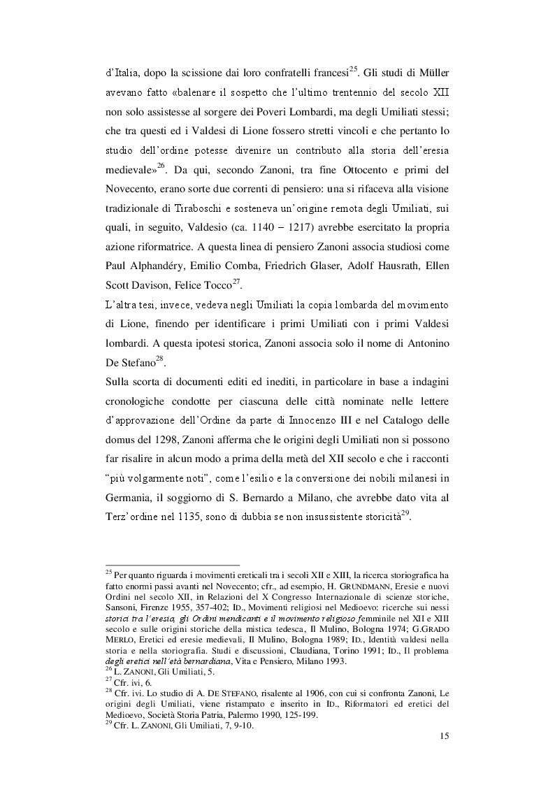 Anteprima della tesi: Gli Umiliati nell'area tosco-emiliana, Pagina 11