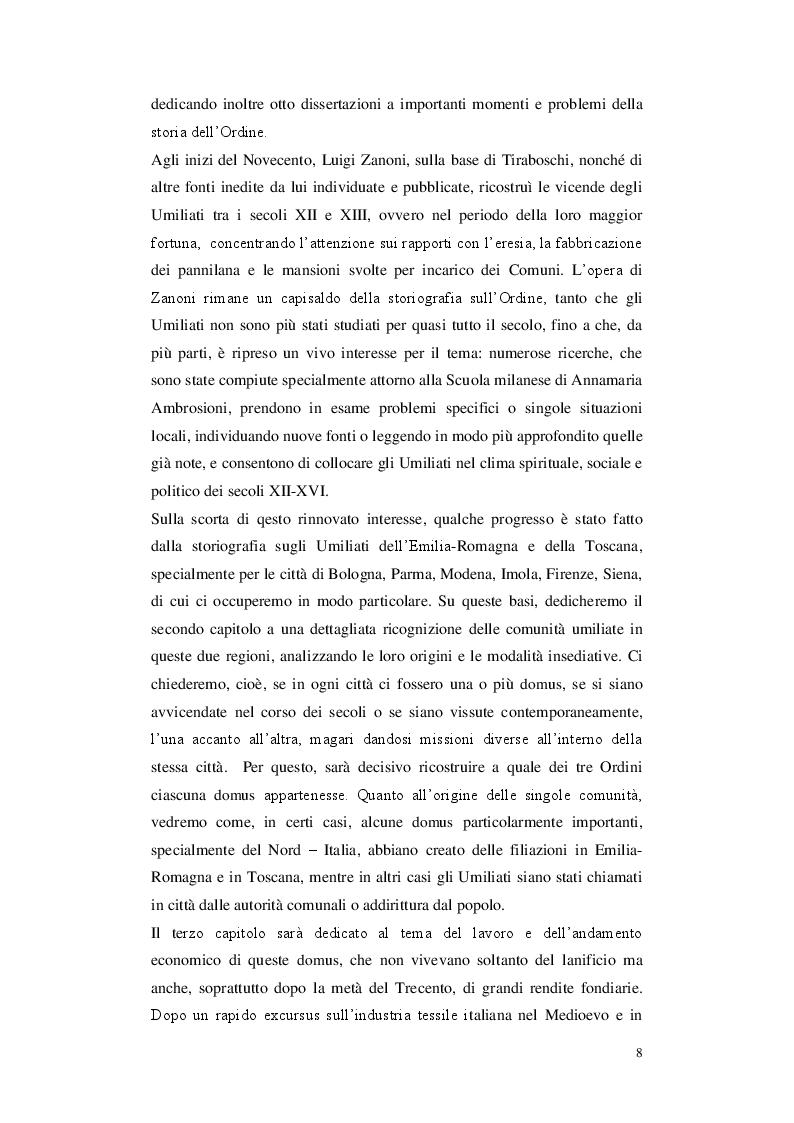 Anteprima della tesi: Gli Umiliati nell'area tosco-emiliana, Pagina 4