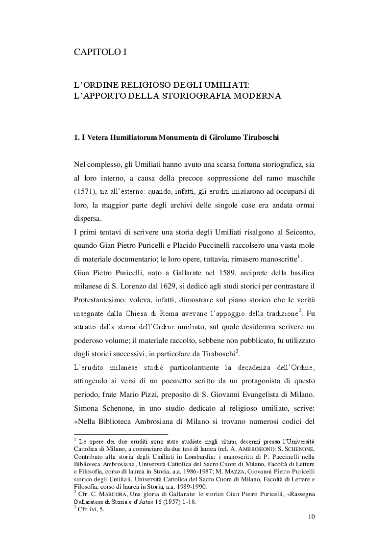 Anteprima della tesi: Gli Umiliati nell'area tosco-emiliana, Pagina 6