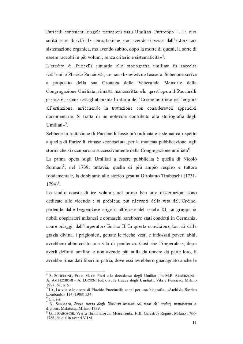 Anteprima della tesi: Gli Umiliati nell'area tosco-emiliana, Pagina 7