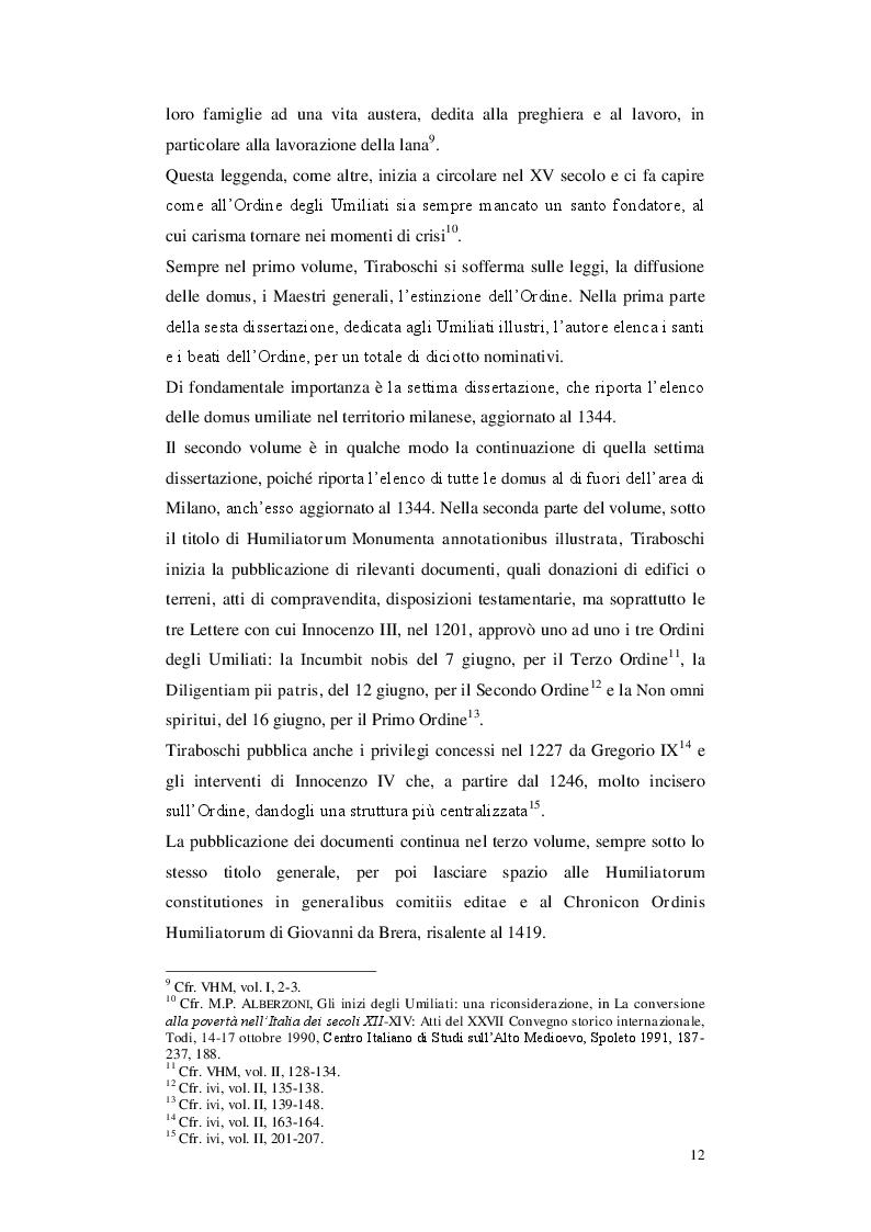 Anteprima della tesi: Gli Umiliati nell'area tosco-emiliana, Pagina 8