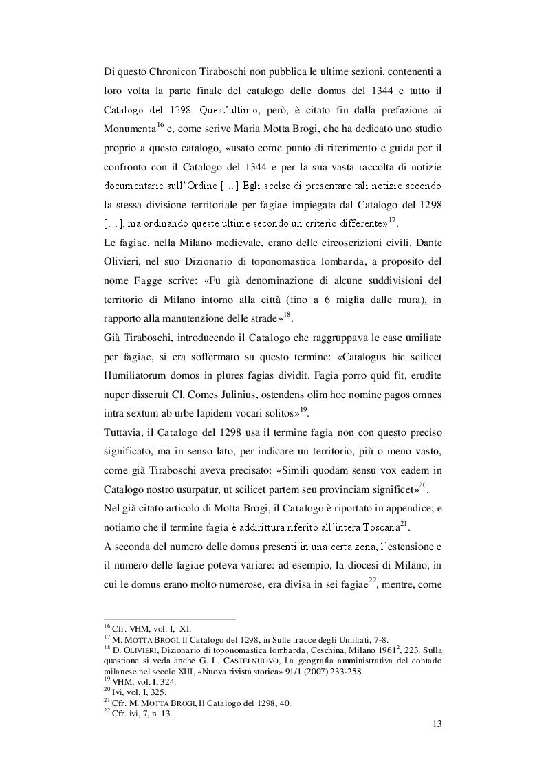 Anteprima della tesi: Gli Umiliati nell'area tosco-emiliana, Pagina 9