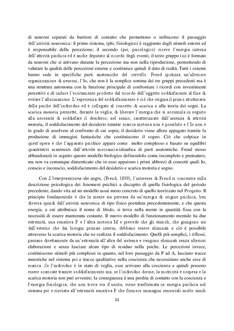 Anteprima della tesi: Sogno e campo psicoanalitico. Discussione su recenti modelli teorico-clinici, Pagina 3