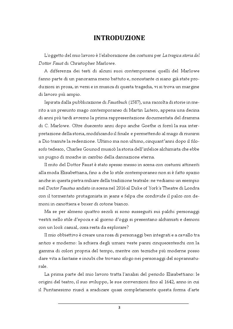 Anteprima della tesi: Progetto per i costumi de Il Dottor Faust di Christopher Marlowe, Pagina 2