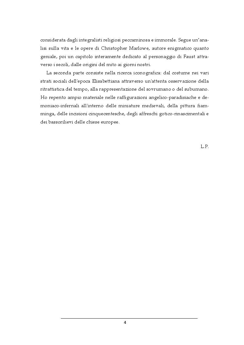 Anteprima della tesi: Progetto per i costumi de Il Dottor Faust di Christopher Marlowe, Pagina 3