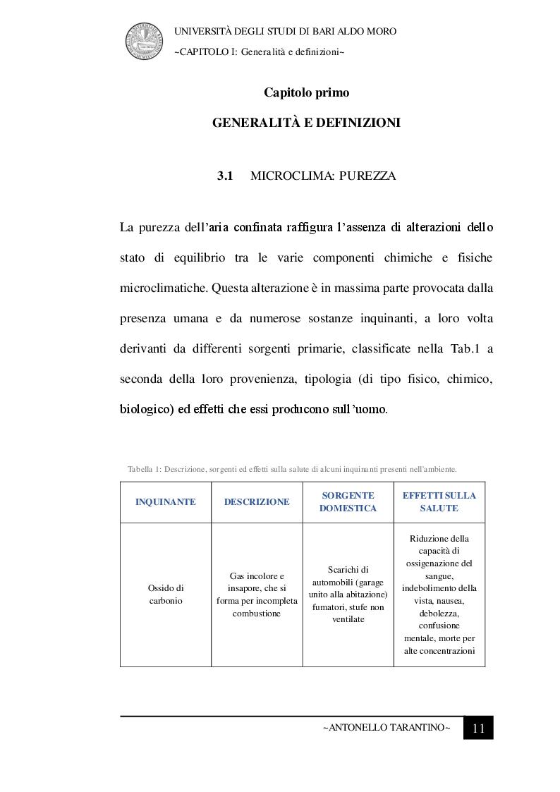 Anteprima della tesi: Le condizioni microclimatiche nelle sale operatorie: campionamenti e verifiche per l'analisi del rischio, Pagina 4