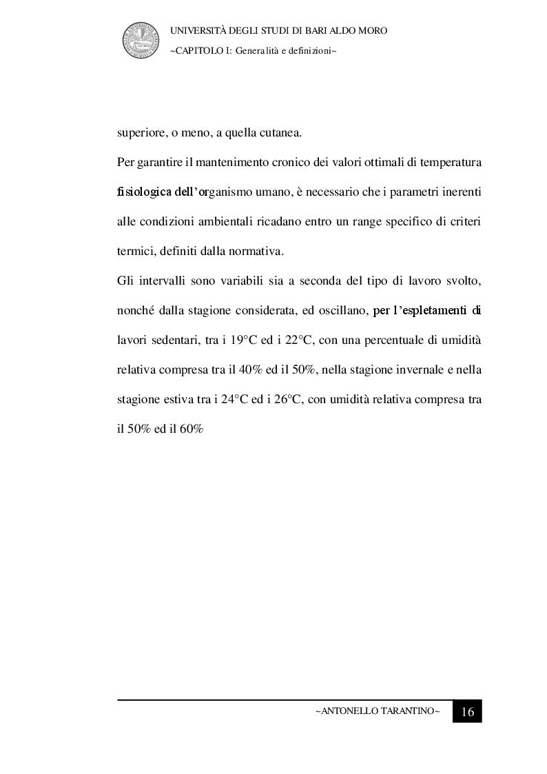 Anteprima della tesi: Le condizioni microclimatiche nelle sale operatorie: campionamenti e verifiche per l'analisi del rischio, Pagina 9