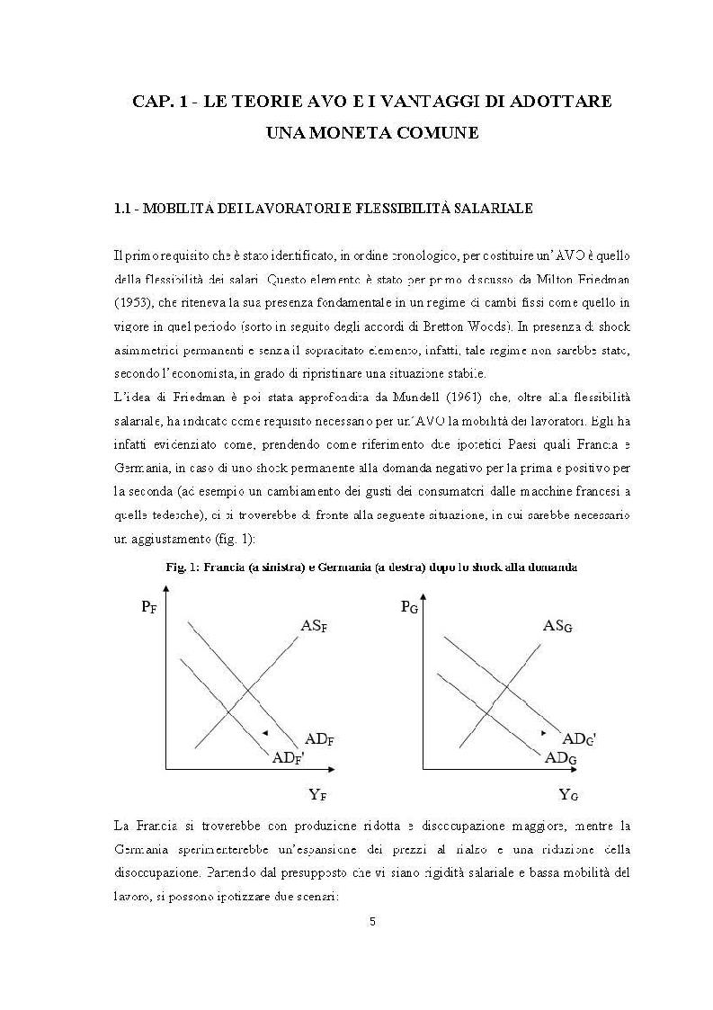Anteprima della tesi: Quanto lontana è l'UEM dall'essere un'area valutaria ottimale?, Pagina 4