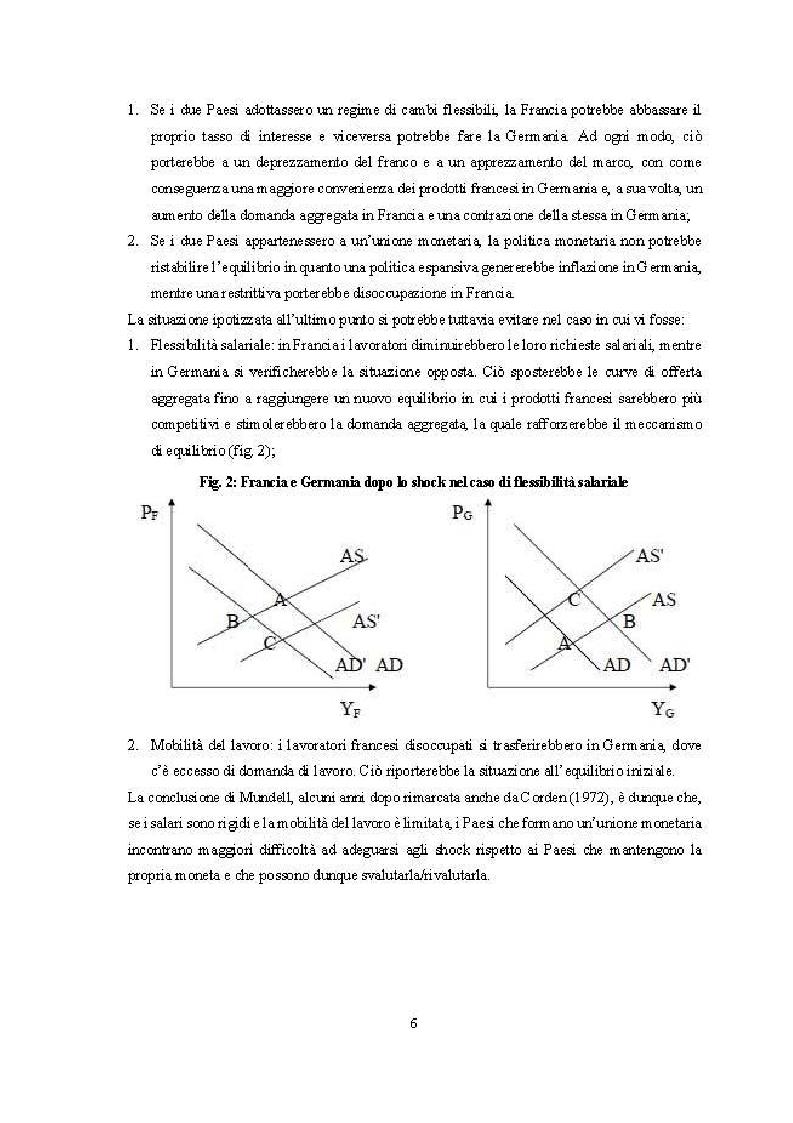 Anteprima della tesi: Quanto lontana è l'UEM dall'essere un'area valutaria ottimale?, Pagina 5