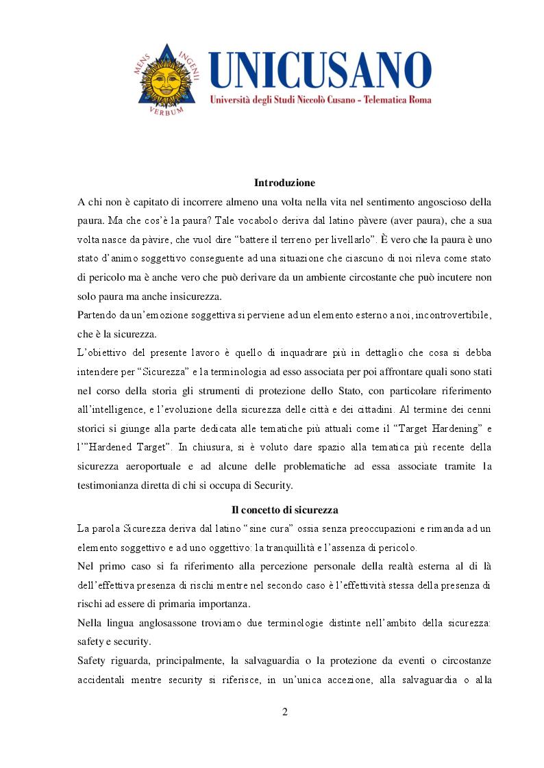 Anteprima della tesi: Evoluzione delle metodologie di protezione dei luoghi fisici, Pagina 2