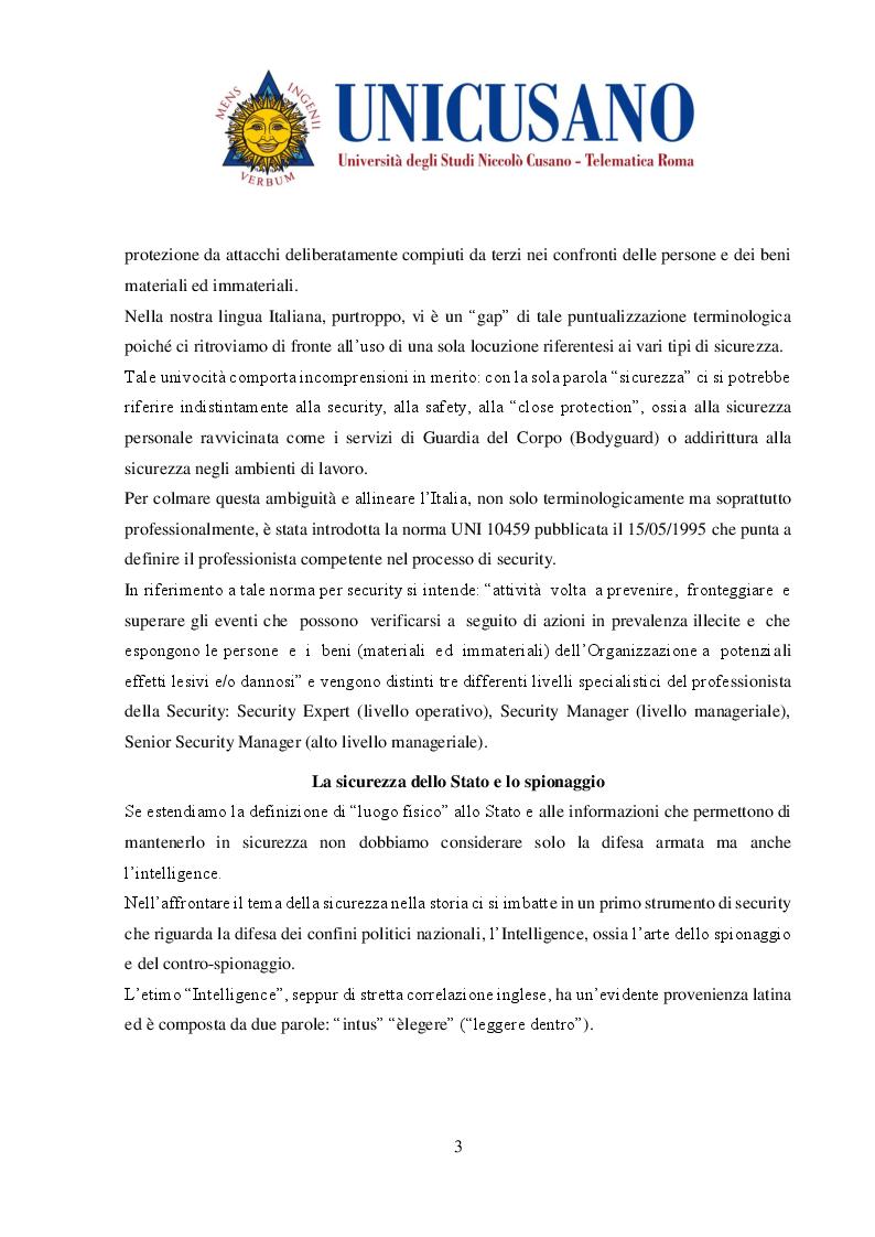 Anteprima della tesi: Evoluzione delle metodologie di protezione dei luoghi fisici, Pagina 3