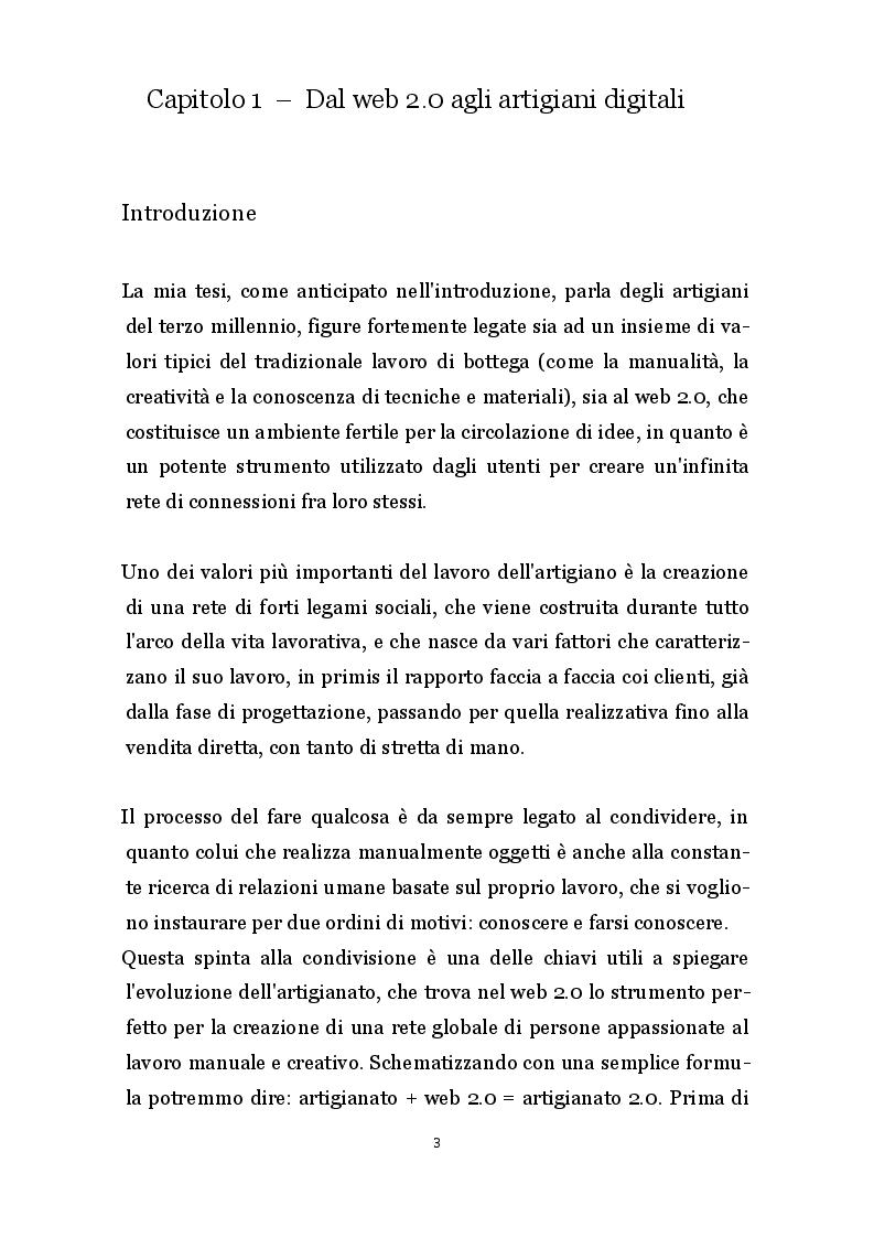 Anteprima della tesi: Artigianato 2.0 - Innovazioni produttive e commerciali degli artigiani digitali, Pagina 2