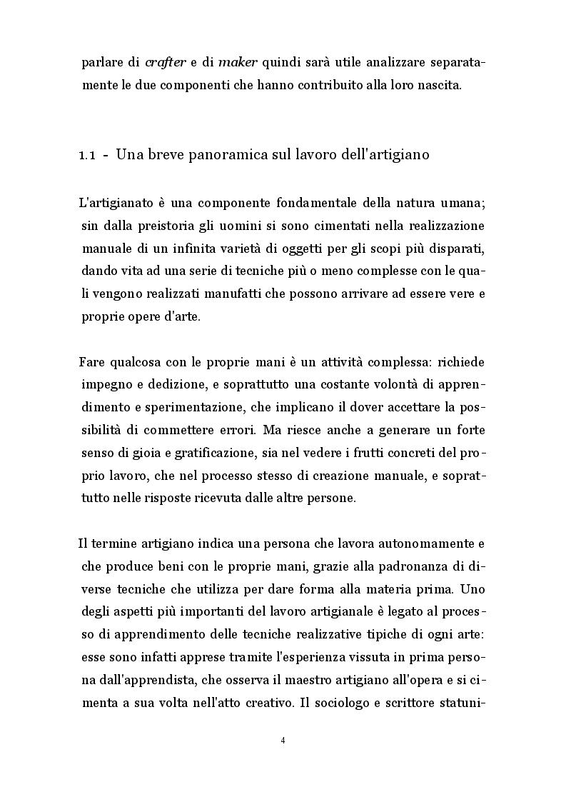 Anteprima della tesi: Artigianato 2.0 - Innovazioni produttive e commerciali degli artigiani digitali, Pagina 3
