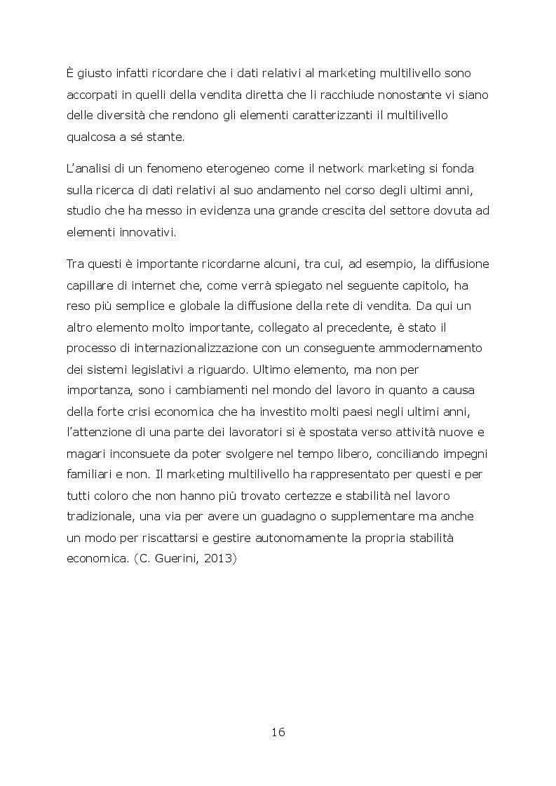 Anteprima della tesi: Network marketing nel mondo 2.0. - I social media ed il caso Pm-International, Pagina 3